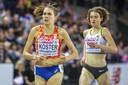 Maureen Koster eerder dit jaar op de EK indoor in Glasgow.