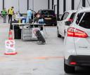 September 2020: drukte bij de corona-teststraat in Etten-Leur.