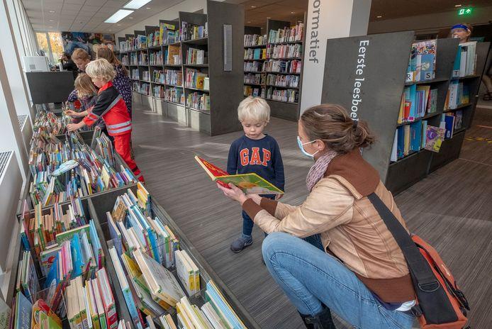 De bibliotheek in Malden.