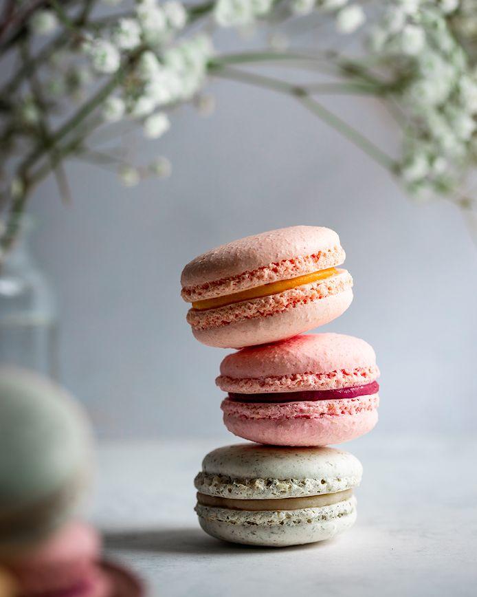 Een van de genomineerde foto's van Kaveckaite. De macarons kreeg zij van de lokale gebakwinkel Koektails.