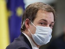 Flambée des chiffres Covid-19: Alexander De Croo conseille de porter le masque à l'intérieur