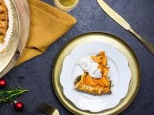 Wat Eten We Vandaag: Zoete-aardappelgalette met champignons in roomsaus