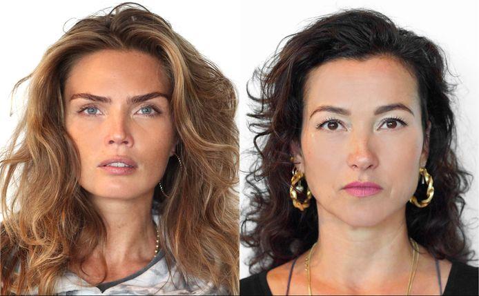 Birgit Schuurman (rechts) en Kim Feenstra vormen een koppel dat in Hunted VIPS uit handen van professionele speurders moet blijven.