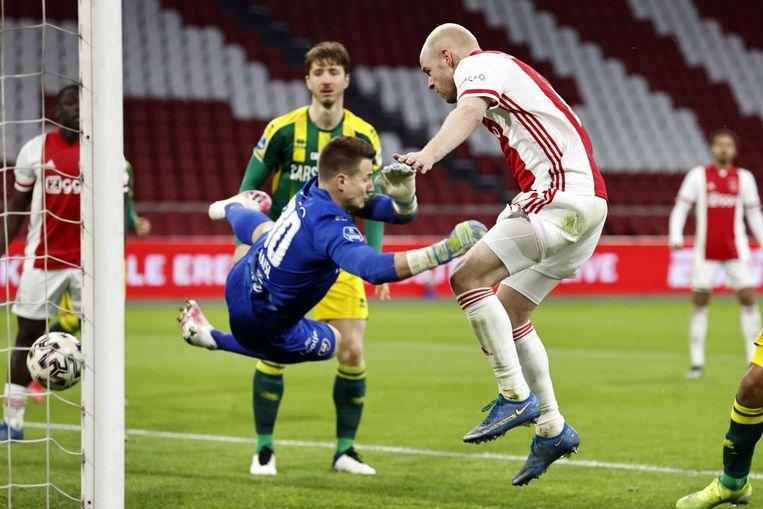 Ajax scoorde 5 goals tegen ADO Den haag. Beeld ANP