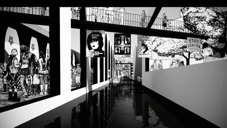 Voorlopig moeten we het doen met een animatie van Nieuw Amsterdam Park Beeld Rraaaf/atelier De Lyon