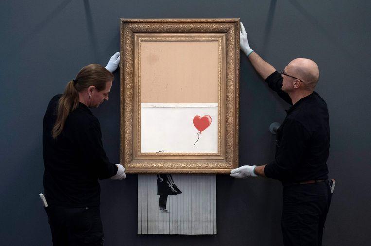 'Love Is in the Bin'. Beeld AFP