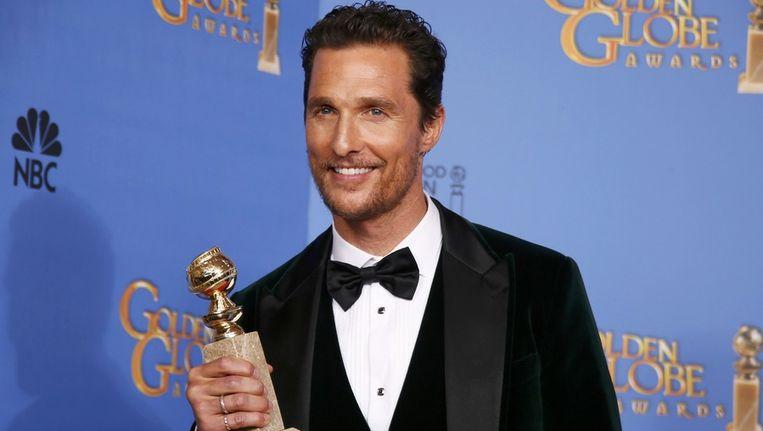 Matthew McConaughey won met zijn rol in Dallas Buyers Club een Golden Globe voor beste acteur in filmdrama. Beeld reuters