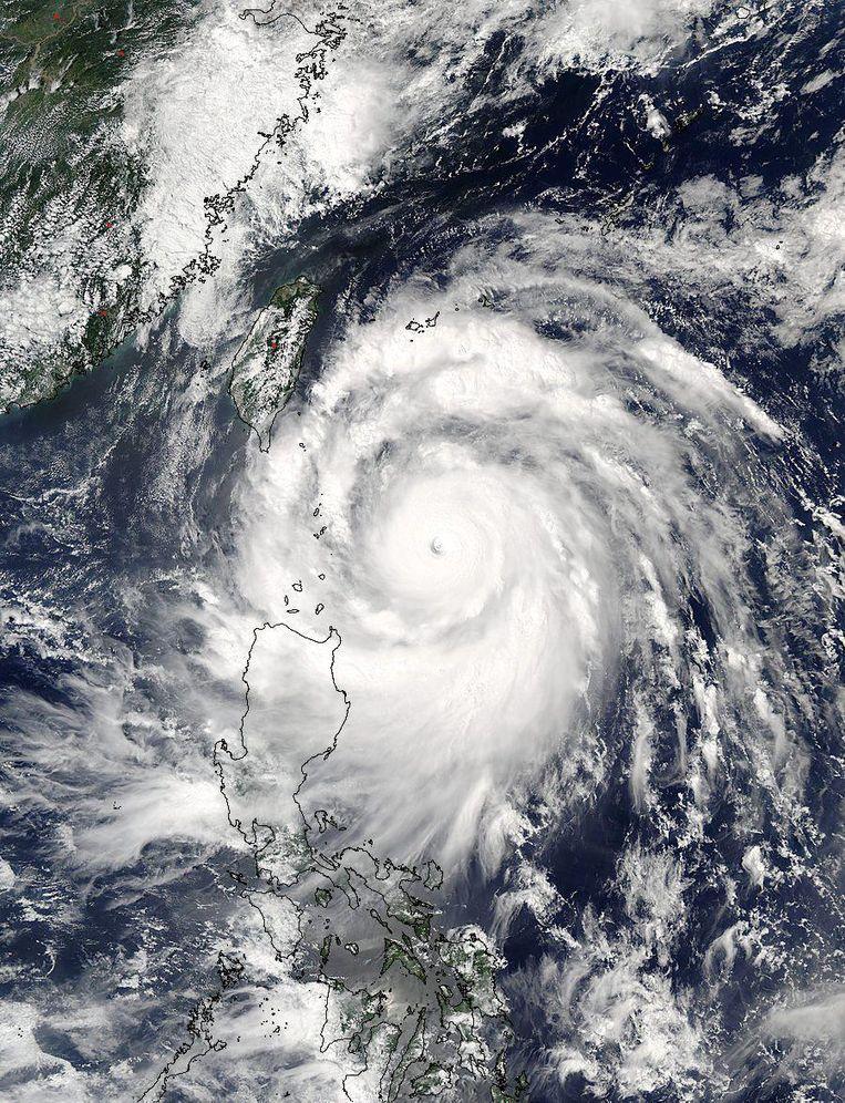 Een beeld van supercycloon Meranti, gemaakt door NASA-satelliet Aqua. Beeld epa