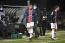 Kylian Mbappé bij zijn wissel in Angers.