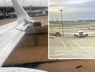 Boeing ziet lantaarnpaal niet staan en haalt hem net voor het opstijgen neer met de vleugel