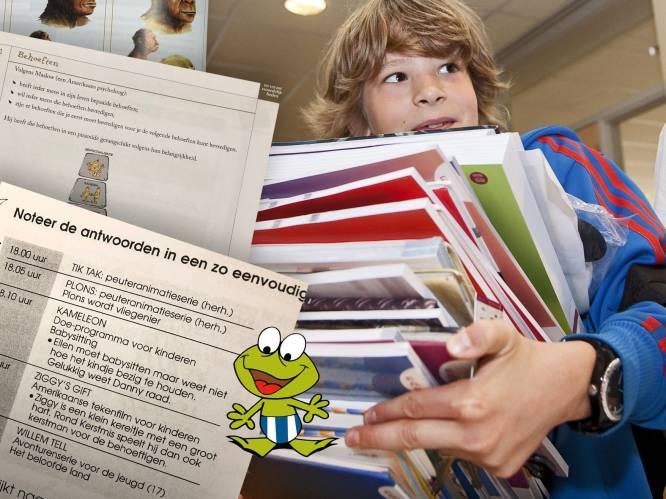Plons de gekke kikker en kardinaal Danneels: heel wat schoolboeken zijn al flink verouderd, of bevatten zelfs fouten