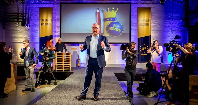 Jan Dijkgraaf presenteert zich als GeenPeil-lijsttrekker. Beeld ANP