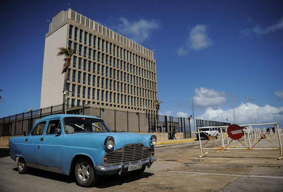 De Amerikaanse ambassade in de Cubaanse hoofdstad Havana.