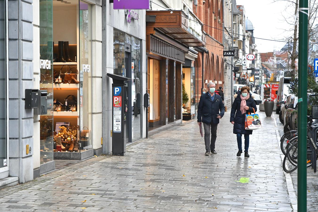 De heropening van de Roeselaarse winkels verliep bijzonder rustig.