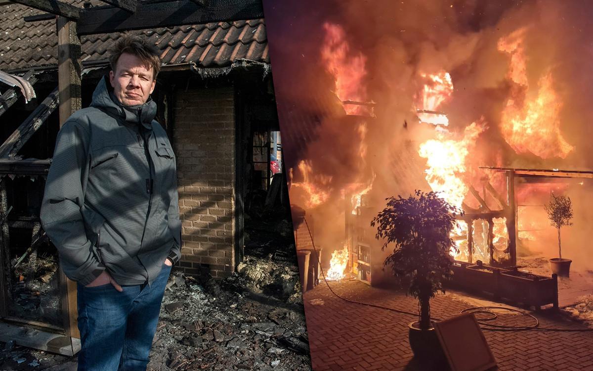 Het huis van Nico aan de Trieststraat is compleet verwoest.