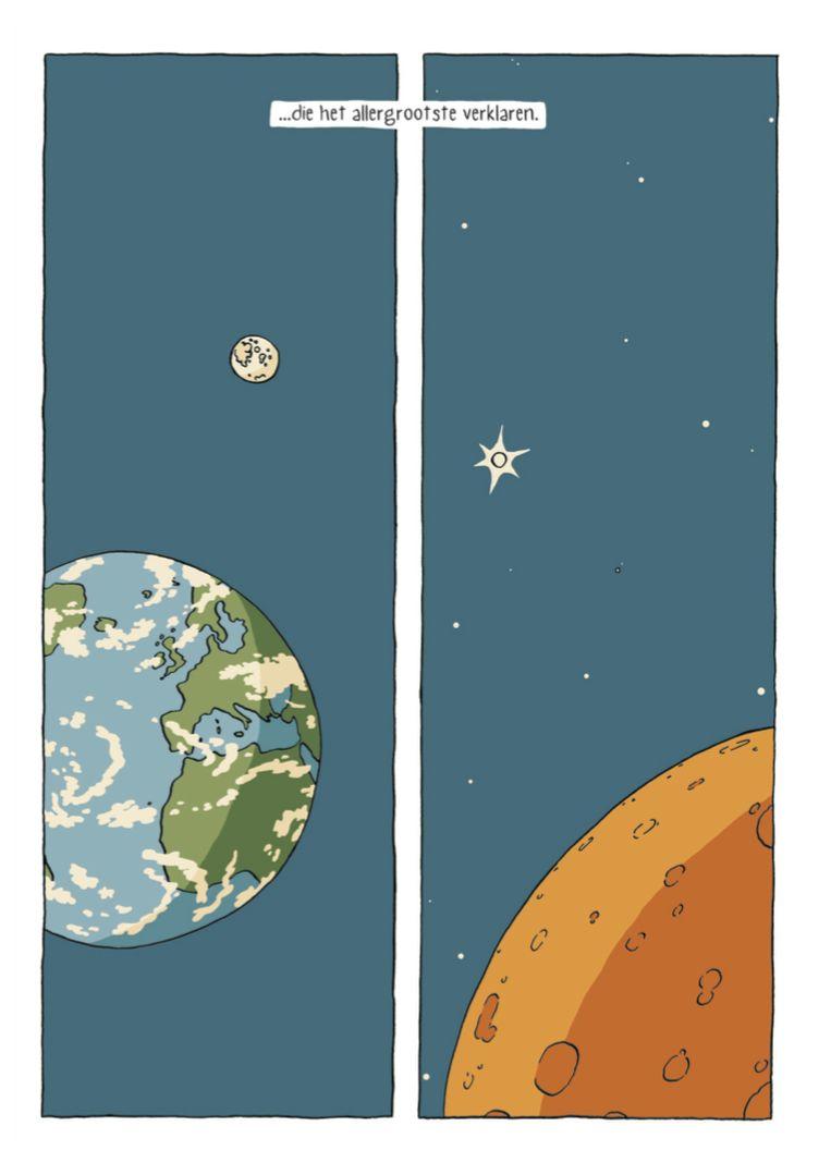 Pagina uit Het allerkleinste, het stripboek dat begon als een afstudeerproject en nu in de boekwinkel ligt. Beeld