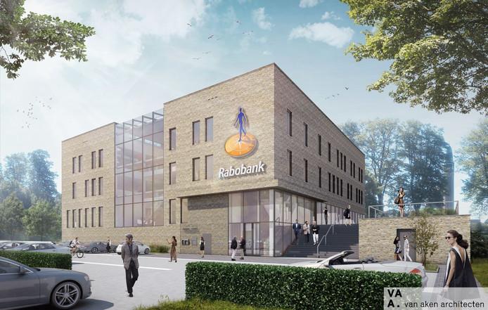 Schets nieuwbouw Rabobank Langstraat.