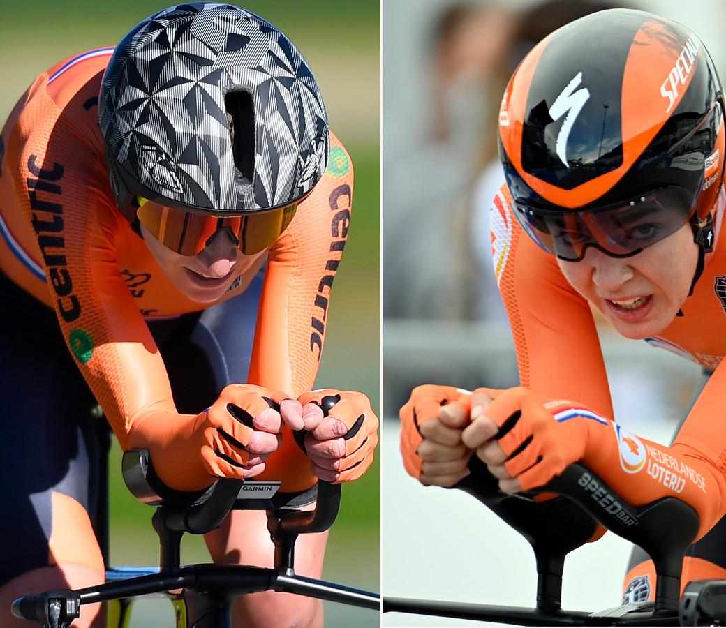 Annemiek van Vleuten en Anna van der Breggen.