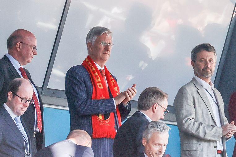 Koning Filip supportert vandaag mee in Kopenhagen. Beeld BELGA