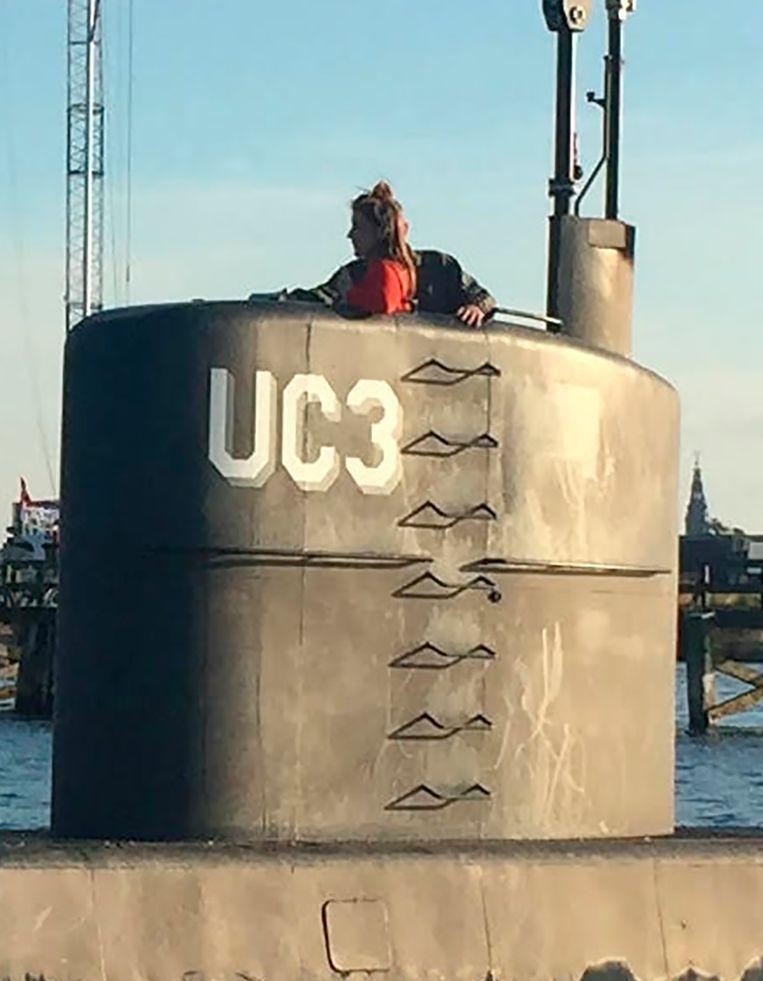 De Zweedse journaliste Kim Wall werkte aan een reportage over de Deense uitvinder Peter Madsen en ging aan boord van zijn duikboot. De vrouw is nog vermist. Beeld afp