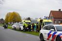 Ongeluk in Chaam, waar een man om het leven kwam.