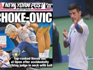"""Internationale pers messcherp voor """"laffe"""" Djokovic na historische diskwalificatie: """"Hij zeurde als een peuter"""""""