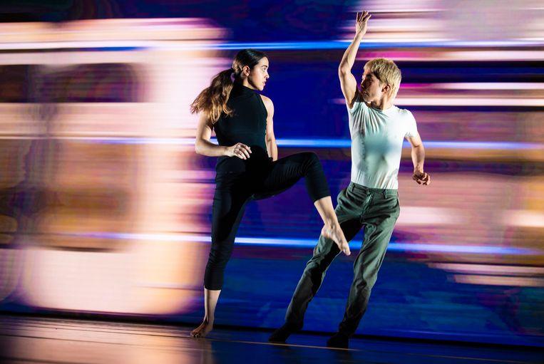 Fragment uit de dansvoorstelling 'Framed' van Conny Janssen Danst.  Beeld Andreas Terlaak