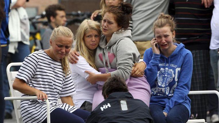 De Noorse koninklijke familie bezoekt vandaag slachtoffers en familieleden van slachtoffers. Beeld reuters
