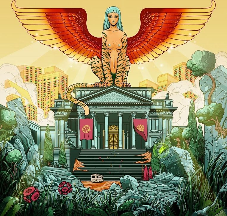 'Riddle of the Sphinx' van Absynthe Minded.  Beeld RV