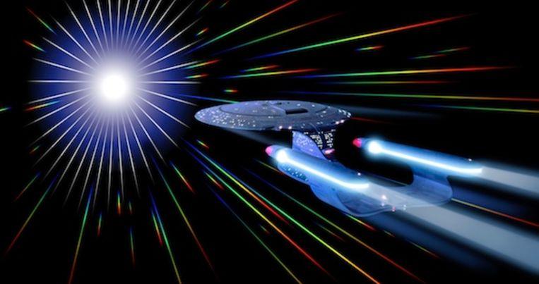 Snel op de bestemming in Star Trek. Beeld