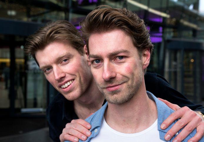 Marcel Rene Bamberg (rechts) en Oscar Smit gaan als duo Bamberg & Smit naar het Leids Cabaret Festival.