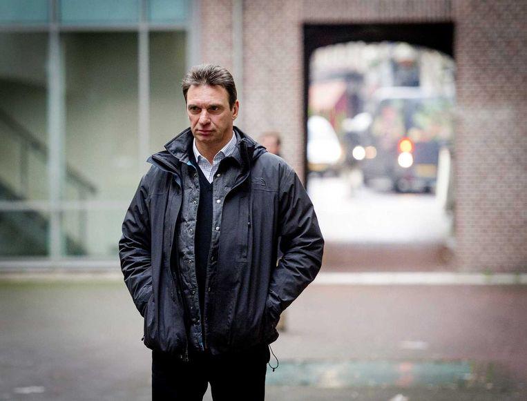 'Topcrimineel' Willem Holleeder werd veroordeeld tot 46 dagen cel voor het bedreigen van misdaadjournalist Peter R. de Vries. Beeld anp