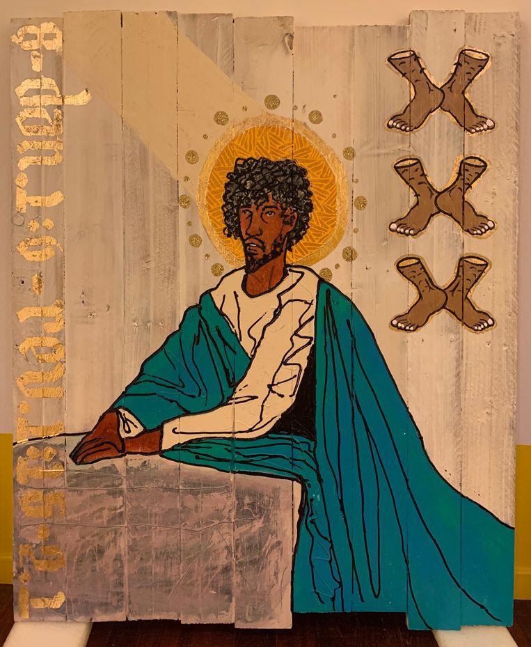 'Black Jesus aka Fuck Cracker Christ'. Beeld Raul Balai en Brian Elstak