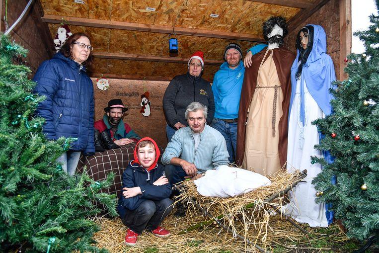 De kerststallentocht in Baasrode is altijd een groot succes.