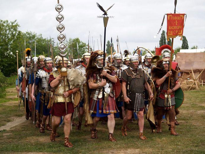 Ter illustratie: Een Romeins legioen.