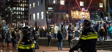 Tientallen boetes en arrestaties bij avondklokprotest op Binnenrotte; uitgestorven in regio Rotterdam
