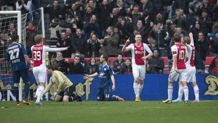 Sigthórsson heeft Ajax op 2-0 gezet. Beeld anp