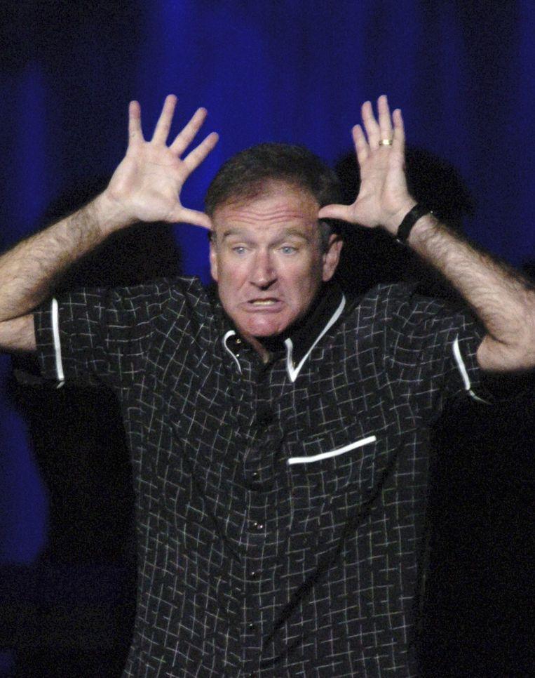 Williams tijdens een benefietshow in Las Vegas in 2004. Beeld epa