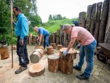 Vrijwilligers Natuurpark Kronenkamp in Neede maken op Burendag werk van 'wederopbouw 2.0'