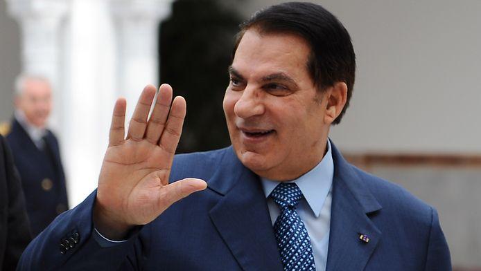 De afgezette Tunesische president Ben Ali