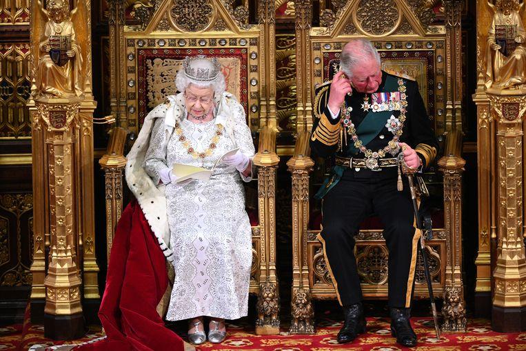 De troonrede van Queen Elizabeth was een politiek fabeltje.  Beeld Getty Images