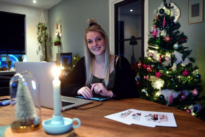 Renee Zwanink van Blond & Groen werkt al acht maanden vanuit huis en heeft daarom meer kerstversiering dan anders.