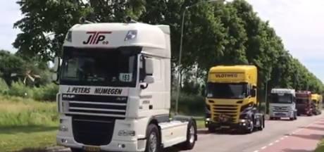 Geen stoet van trucks door Maas en Waal: Truckerskonvooi Boldershof afgelast