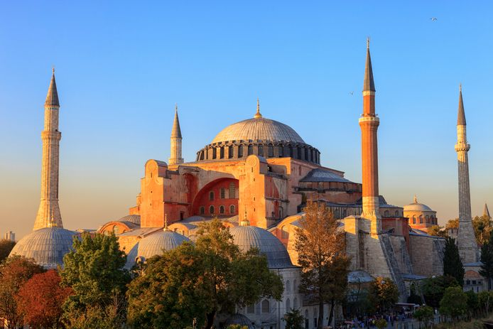 De Hagia Sophia in Istanboel, Turkije.