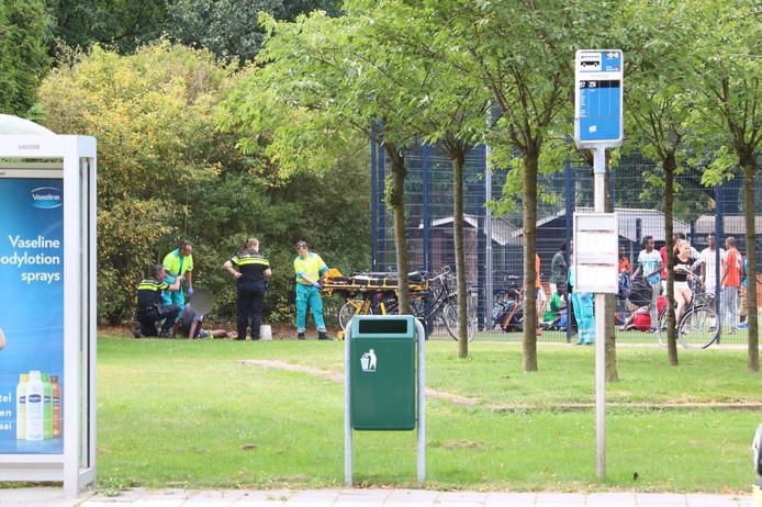De jongen werd beschoten op het Cruyff Court