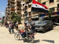 Damascus viert uitbundig 'bevrijding' Douma