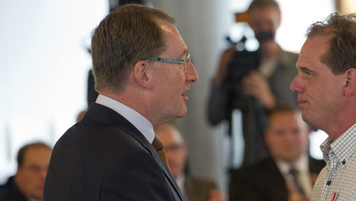 Commissaris van de Koningin van Zuid-Holland Jan Franssen (L).