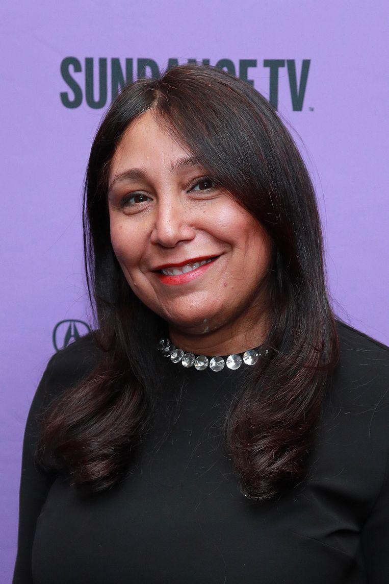 Regisseur Haifa al-Mansour op het Sundance Film Festival (2020). Beeld Getty