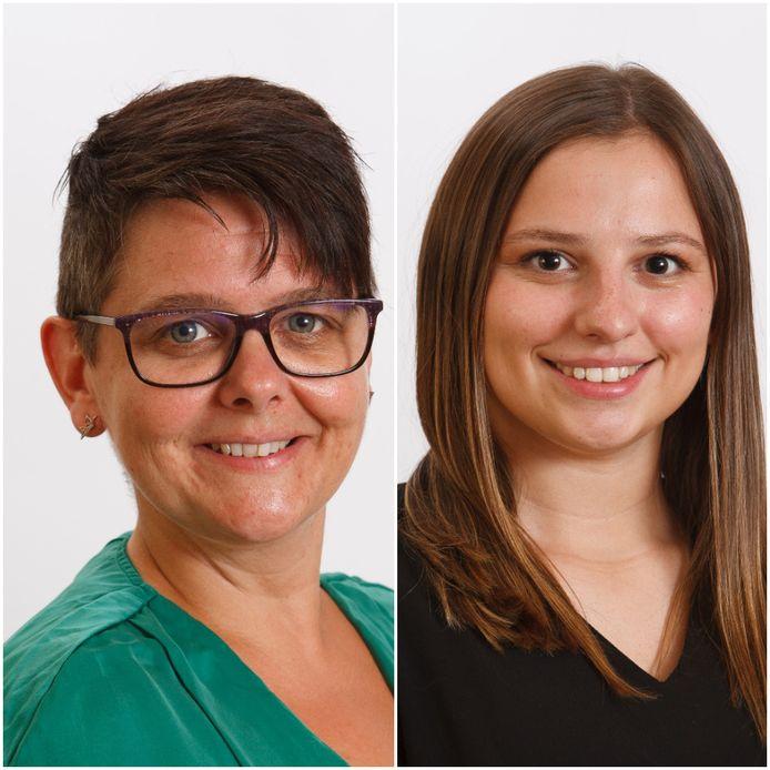 Vicky Cools (links) zal Maïte Croux vervangen in de gemeenteraad.