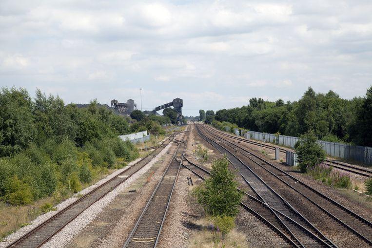 Over het spoor wordt nu duurzame biomassa uit Canada vervoerd. Beeld